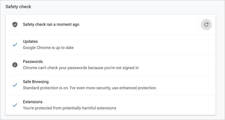 Статус проверки безопасности
