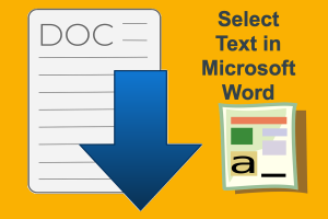 Select Text in Microsoft Word