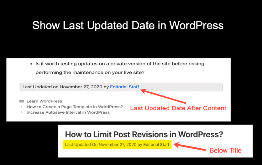 Show Last Updated Date in WordPress