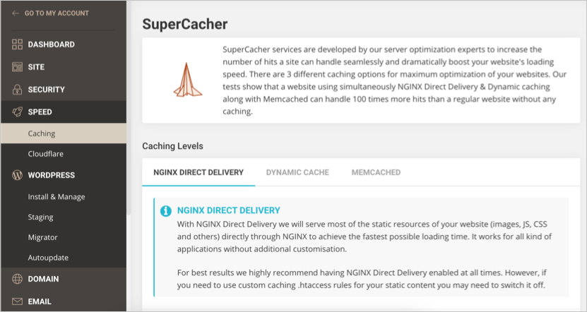 SuperCacher NGINX Direct Delivery