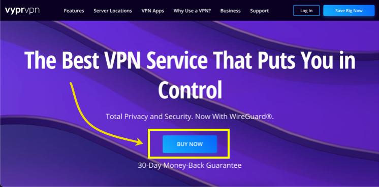 VyprVPN Signup Page