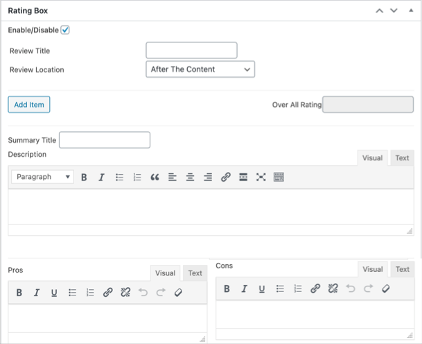 Add Review Details in Editor