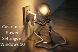 Customize Power Settings in Windows 10