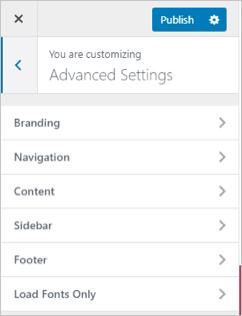 Fonts Plugin Advanced Settings