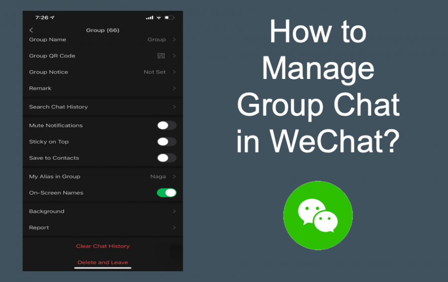 Manage Group Chat in WeChat