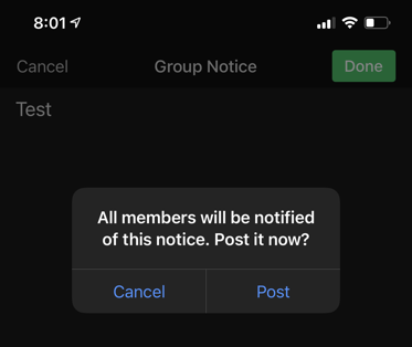 Post Group Notice