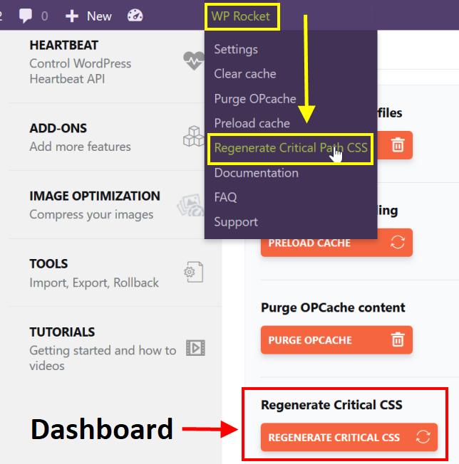 Regenerate Critical CSS