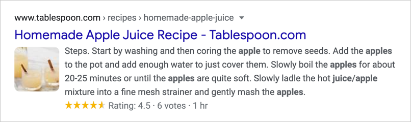 Rich Snippet Example
