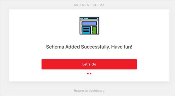 Schema Type Created Successfully