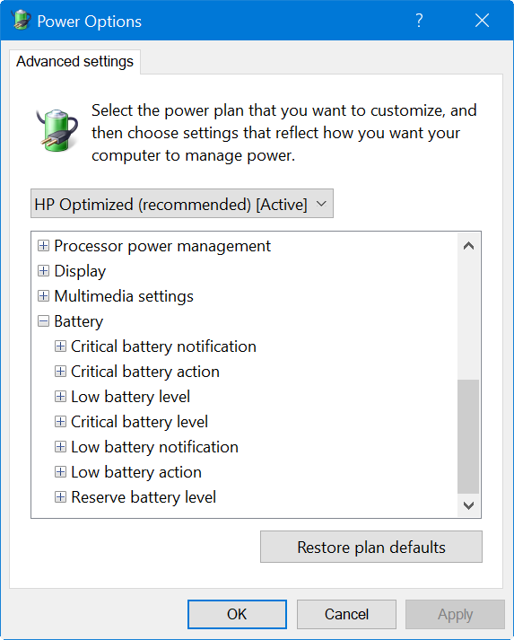 Setup Critical Battery Notifications