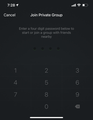 Type Password for Private Group