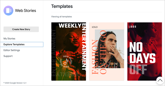 View Web Stories Templates
