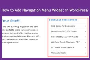Add Navigation Menu Widget in WordPress
