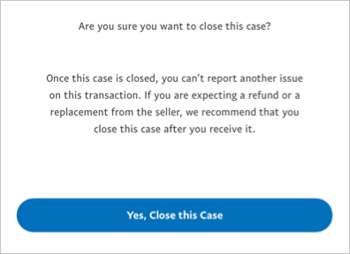 Confirm Dispute Closure