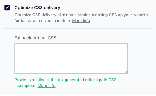 Critical CSS in WP Rocket