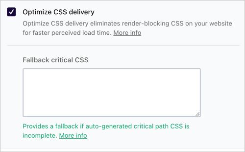 Критический CSS в WP Rocket