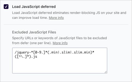 Defer JavaScript in WP Rocket