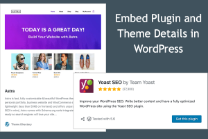 Embed Plugin and Theme Details in WordPress