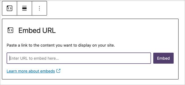 Embed URL Block
