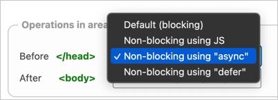 Non Blocking JS Options