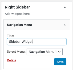 Select Menu for Navigation
