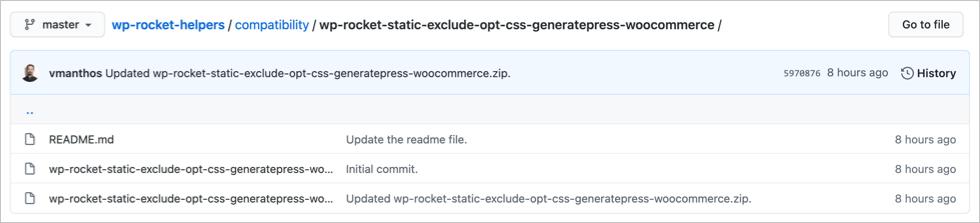 WP Rocket WooCommerce Exclusion for GeneratePress