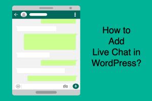 Add Live Chat in WordPress
