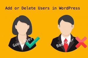 Add or Delete Users in WordPress