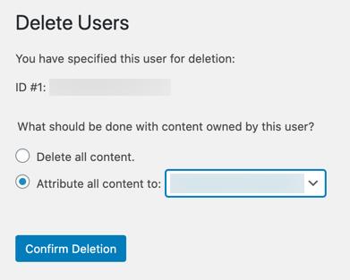 Назначить контент другому пользователю