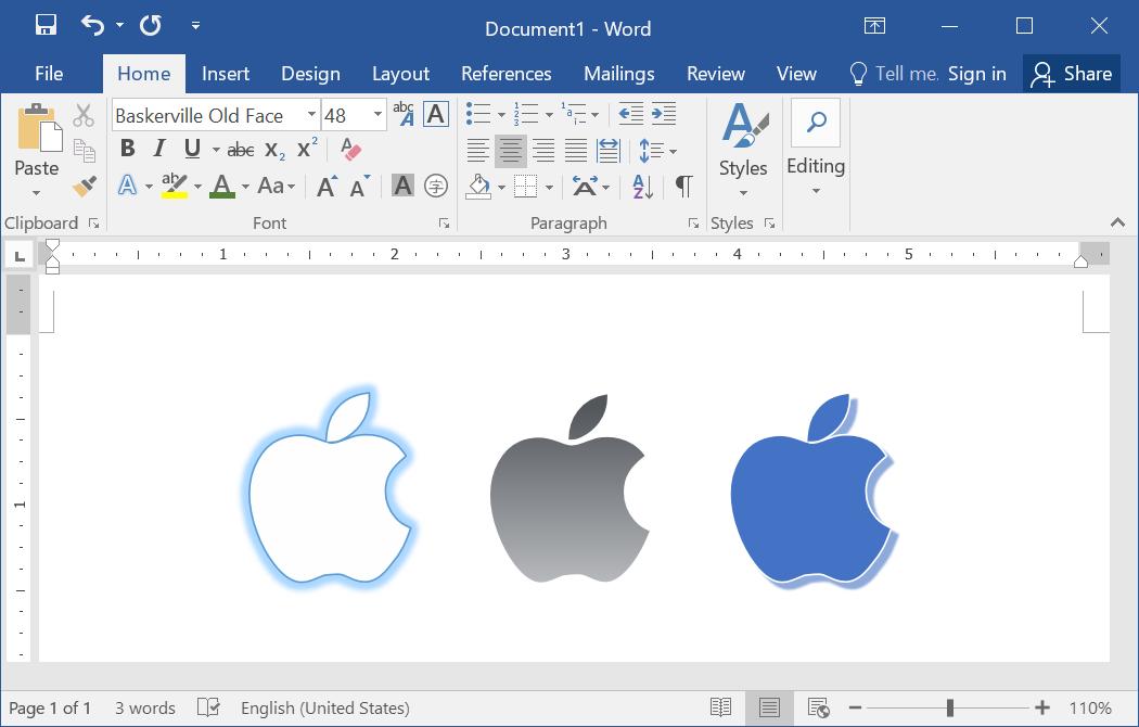 Настройка внешнего вида логотипа Apple