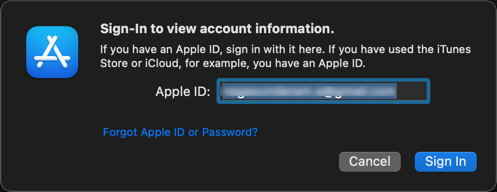 Login to Apple Account