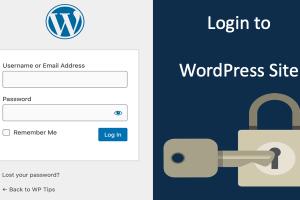 Login to WordPress Site
