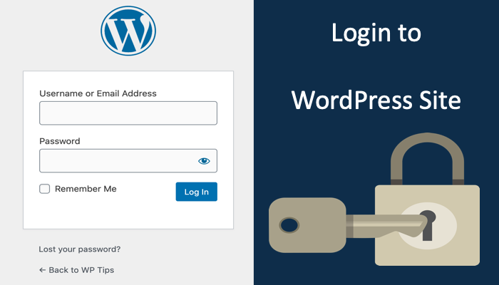 Login to WordPress Site