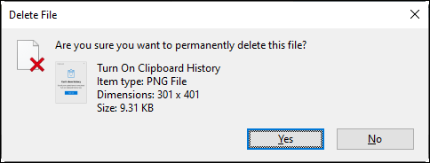 Permanently Deleting Files