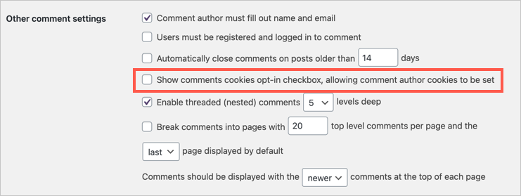 Show Comment Cookie Opt-in