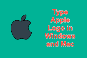 Type Apple Logo in Windows and Mac