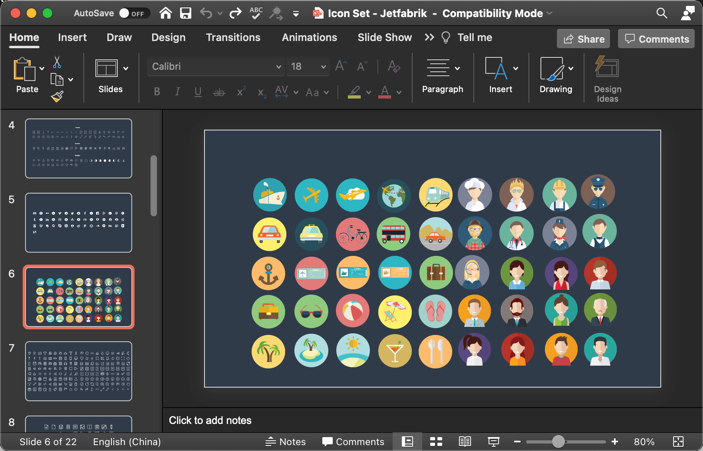 Vector Icons for Presentation