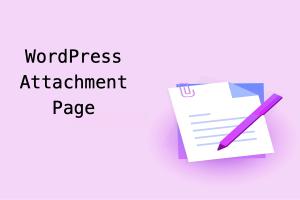 WordPress Attachment Page