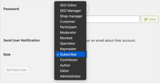 Роли пользователей по умолчанию и настраиваемые в WordPress