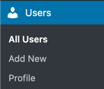 WordPress User Section