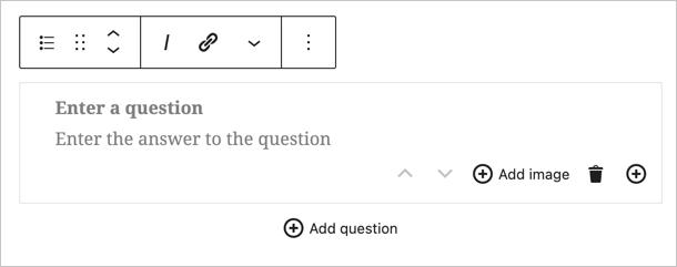 Блок часто задаваемых вопросов Yoast