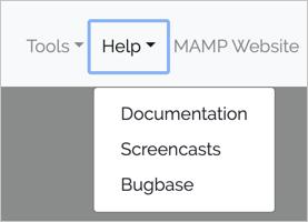 Доступ к документации MAMP