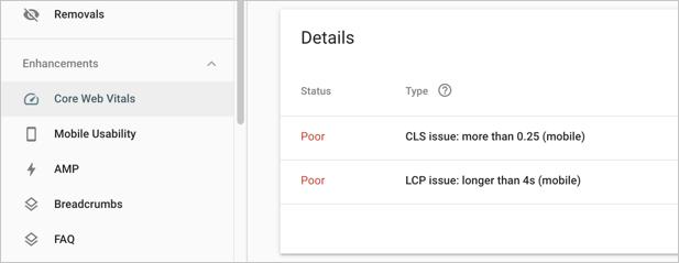 Проблема CLS в Google Search Console