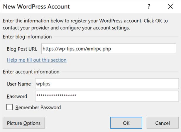 Подключиться к учетной записи WordPress