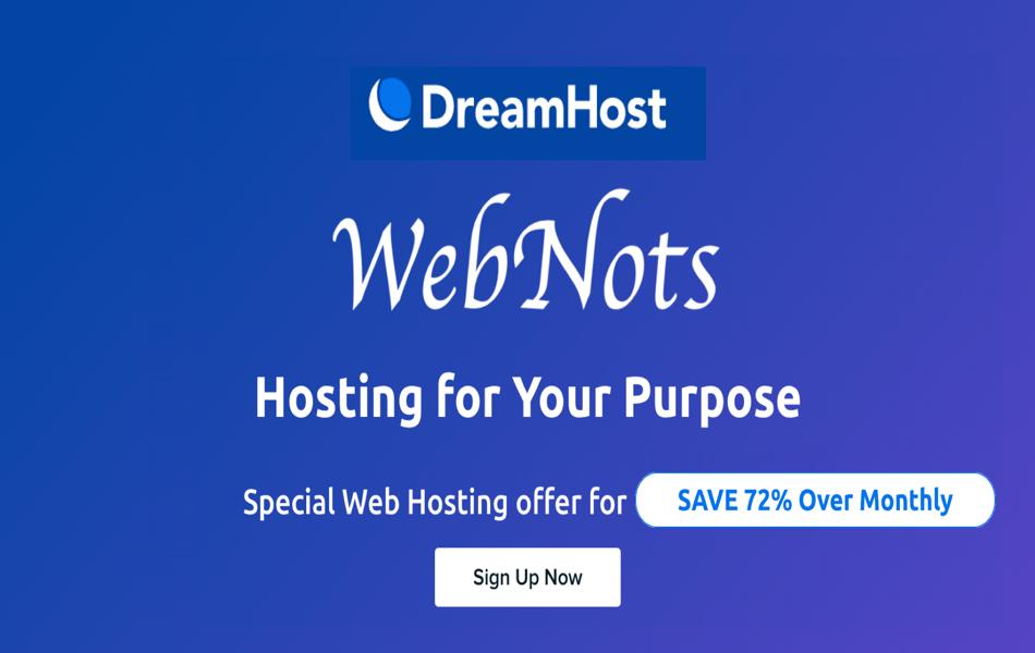 DreamHost Special WebNots Deal