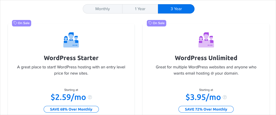 DreamHost WP Pricing Plans