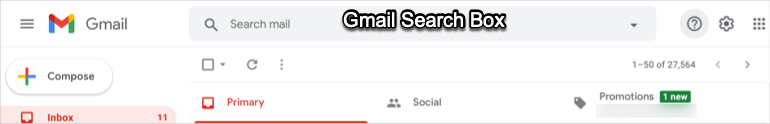 Gmail Search Box