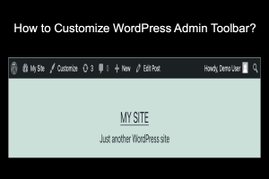 How to Customize WordPress Admin Toolbar?
