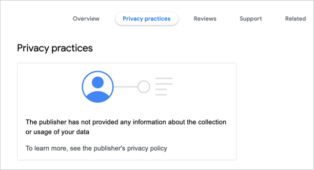 No Privacy Details Declared