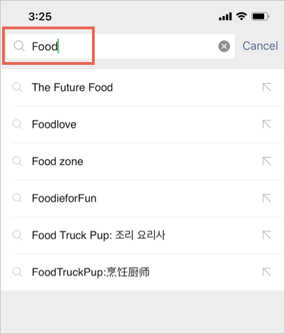 Search Food Mini Programs